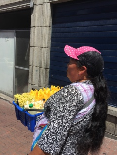 Fruit is sold throughout the streets of Quito for very cheap